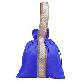 Potli Bag-Lace handle In Blue