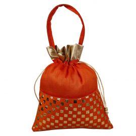 Potli Bag-Dotted Orange
