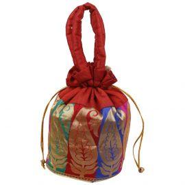 Potli Bag-Floral Mango