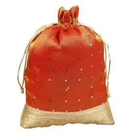 Potli Bag-Golden Base Dotted