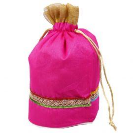 Potli Bag-Golden Jari Lace