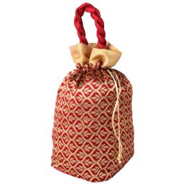 Potli Bag -Golden red new