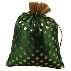 Potli Bag-Green Dotted