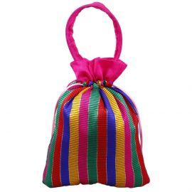 Potli Bag-Multi Colour Stripes