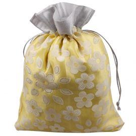 Potli Bag-Plain Floral Yellow