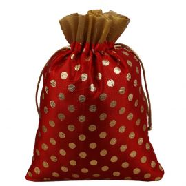 Potli Bag Red Dotted