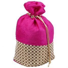 Potli Bag- Velvet Pink