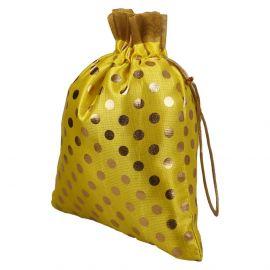 Potli Bag -Yellow Dotted