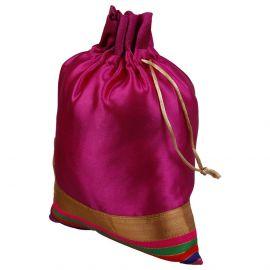Potli Bag-Satin Multi Color Base