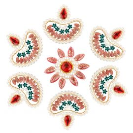 Kundan Rangoli Diya(7pc set)