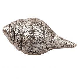 Whitemetal Ganesh Carved Shankh