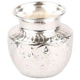 Silver Plated Laxmi Kalash small
