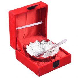 "Silver plated kamal bowl 4"""