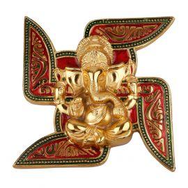 Swastik Ganesh mina gold