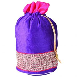 Potli Bag -Velvet with zari