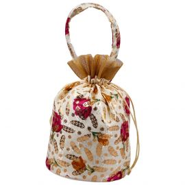 Potli Bag-Floral White