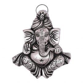White metal Pagdi Ganesh Hanging